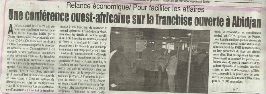 Une conférence Ouest-africaine sur la franchise ouverte à Abidjan ... d6411b6775c8